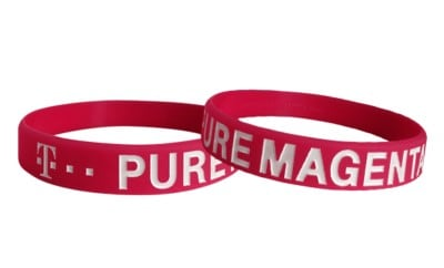 debossed and color filled bracelets