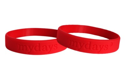debossing bracelets with logo and text