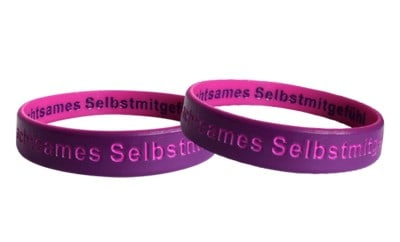 double layer silicone wristbands