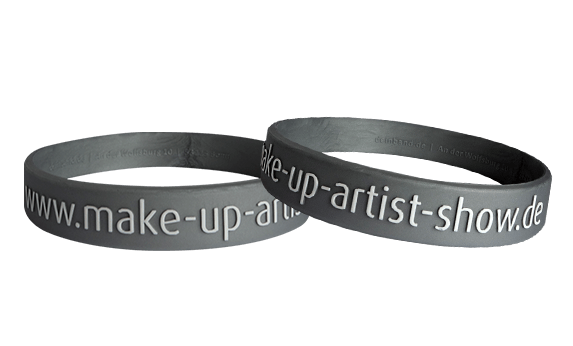 embossed and printed silicone wristbands