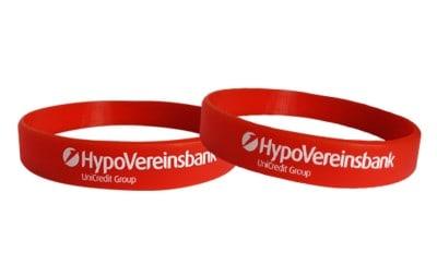imprint silicone bracelets logo slogan