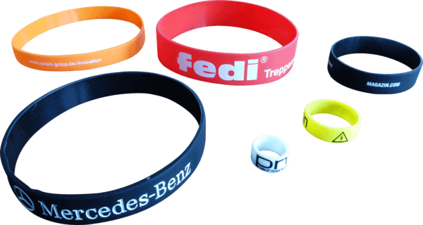 silicone bands customized sizes for industry