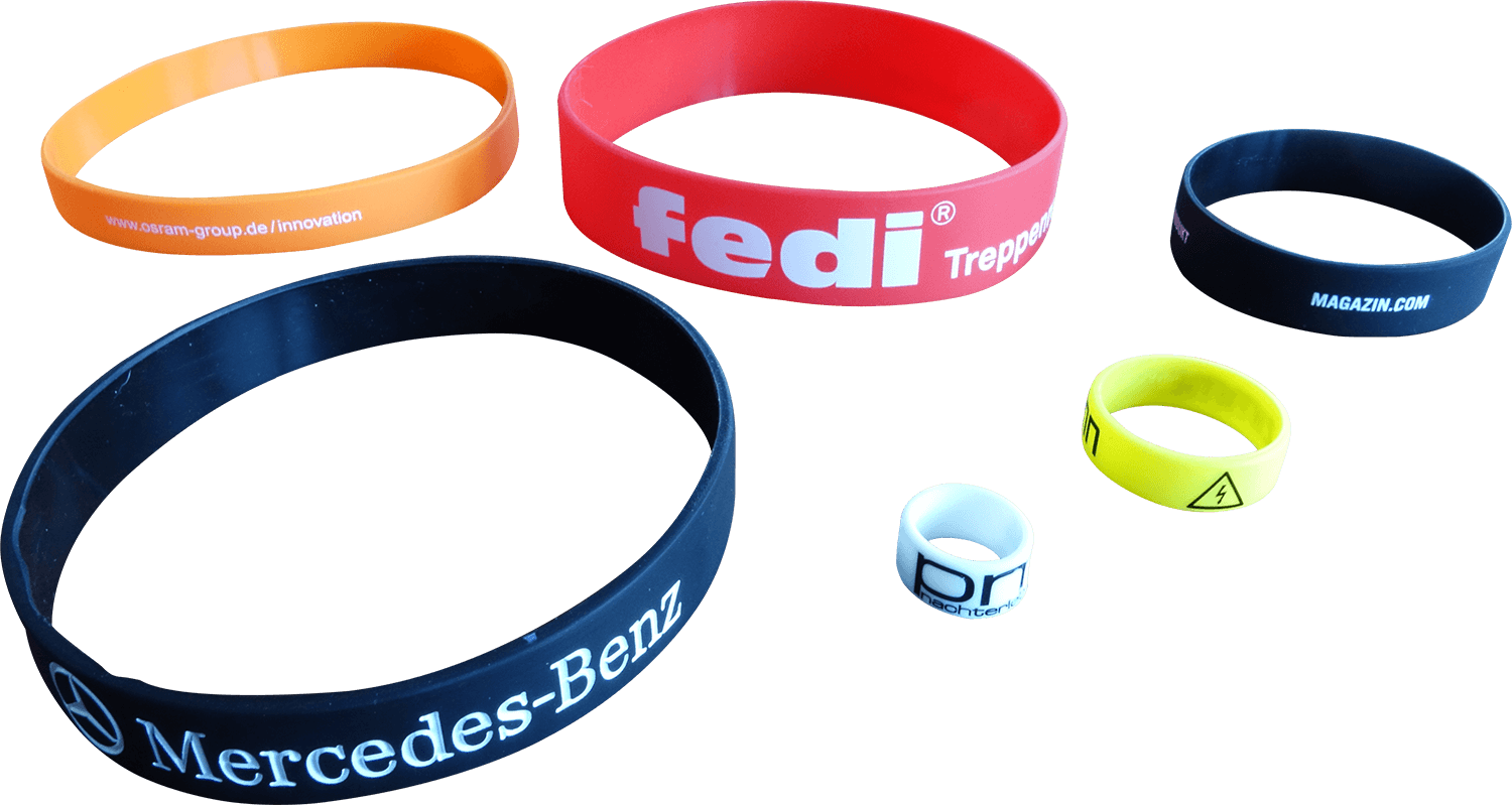 silicone bands personalized custom sizes
