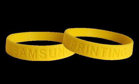 silicone bracelet debossed