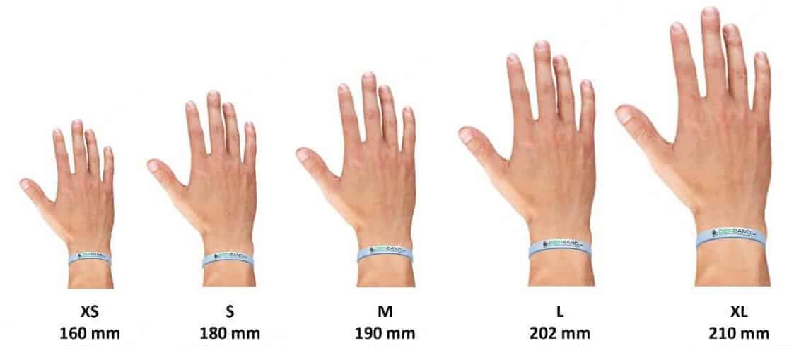 silicone bracelets sizes chart