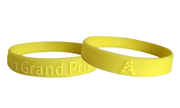 silicone wristband embossed printed logo