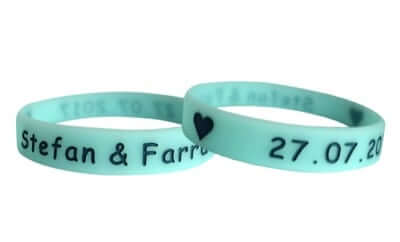 silicone wristbands for your wedding