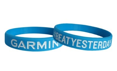 wristband from silicone debossed and color filled